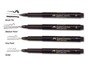 Faber Castell Pitt Artist pen zwart los