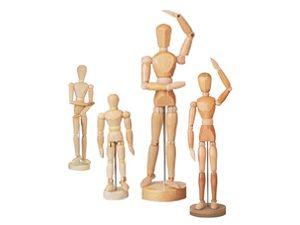 Ledenpoppen & houten modellen