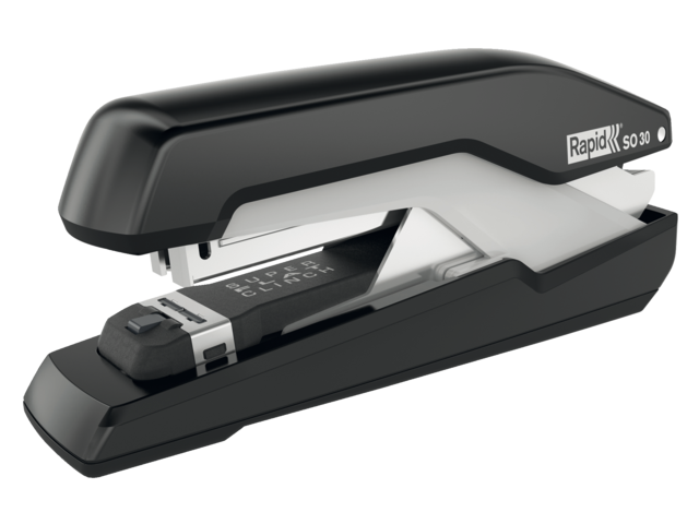 Nietmachine rapid s30 super flatclinch 30vel 24/6 zwart/grs