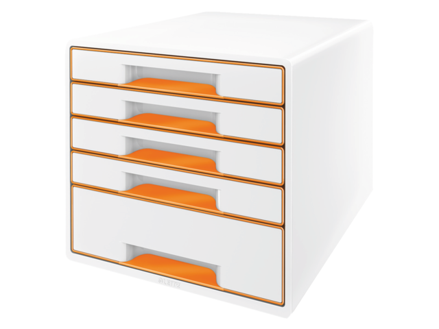 Ladenbox leitz wow 5 laden wit/oranje