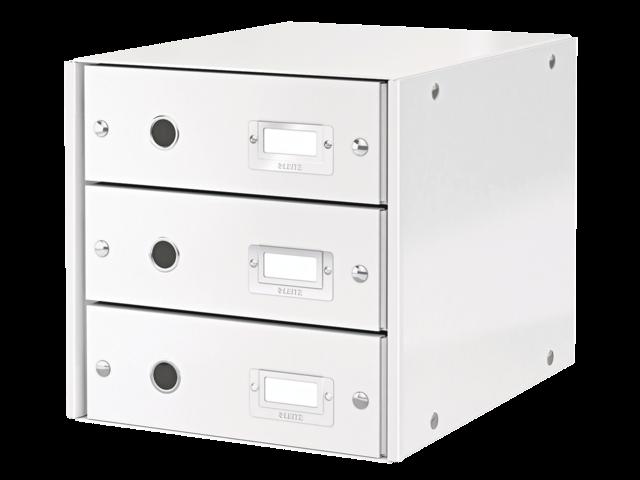 Ladenbox leitz click & store 3 laden wit