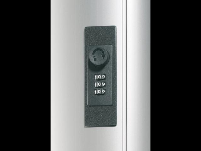 Sleutelkast durable aluminium 36haken 310x305x125mm