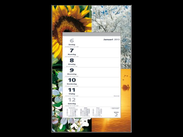 Weekkalender motief 4 seizoenen 2014