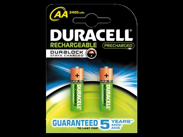 Batterij oplaadbaar duracell aa precharged 2400mah