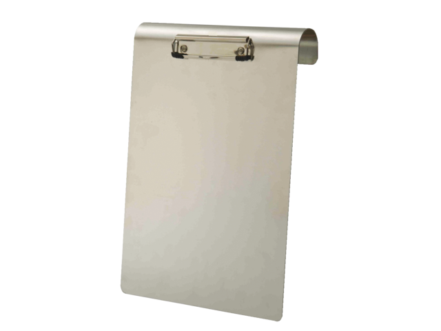 Klembord aluminium a4 staand 120mm met klem