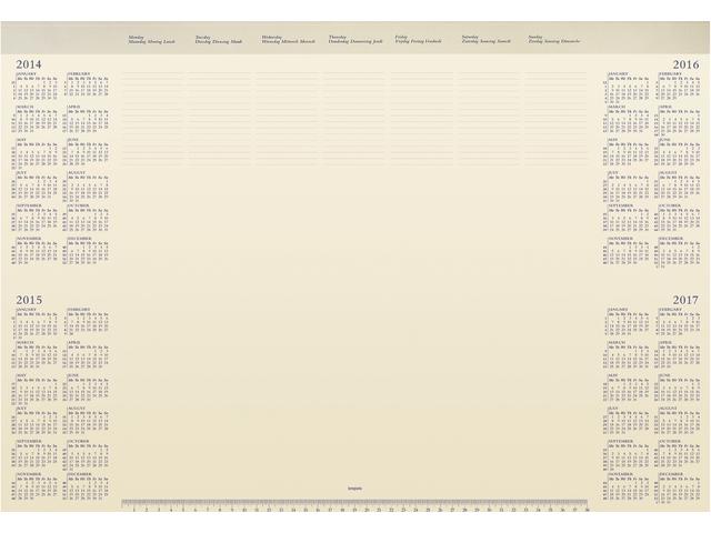 Onderlegblok 2015 deskmate met pvc houder 412x590