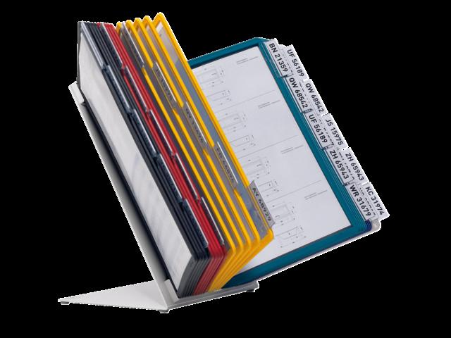 Bureaustandaard durable vario met 30 tassen assorti