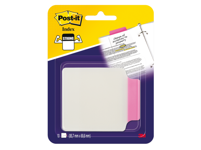 Indextabs 3m post-it 687-p3 85.7mmx69.8mm tr roze