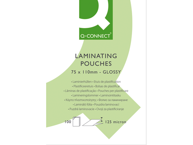 Lamineerhoes q-connect 75x100 2x125micron 100stuks